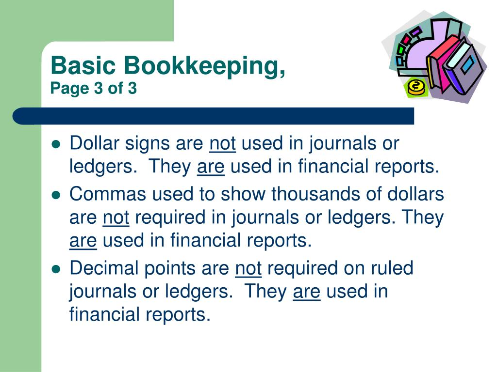Basic Bookkeeping,