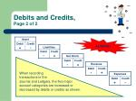 debits and credits page 2 of 2