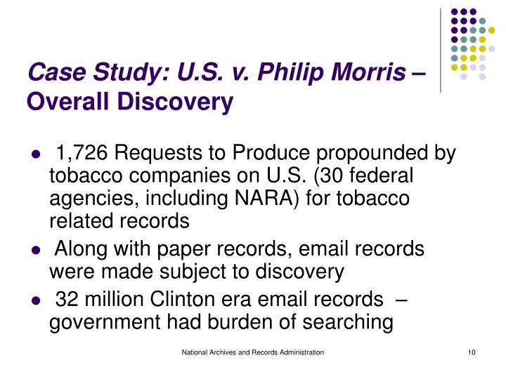 philip morris case study essay example Recent case law 4 permanent  as an example, in the us the irs is engaging in intensive factual investigations,  permanent establishments 20.