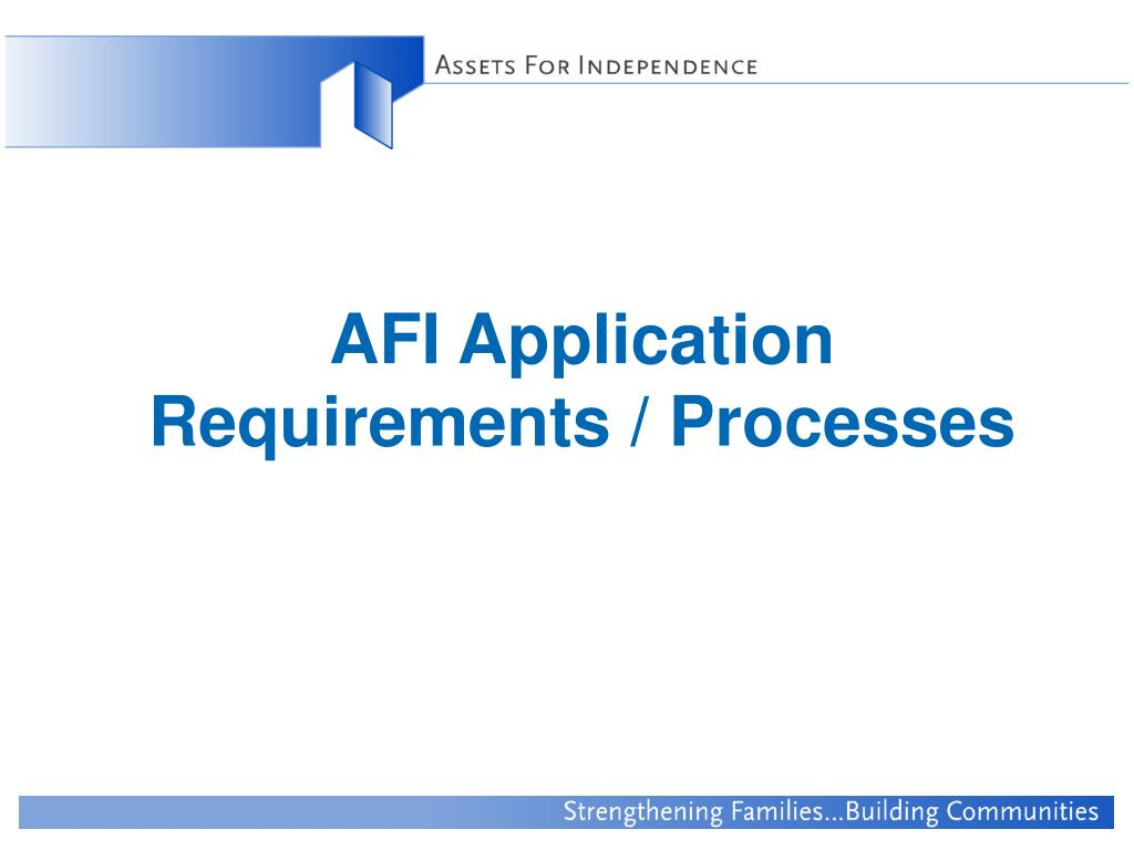 AFI Application