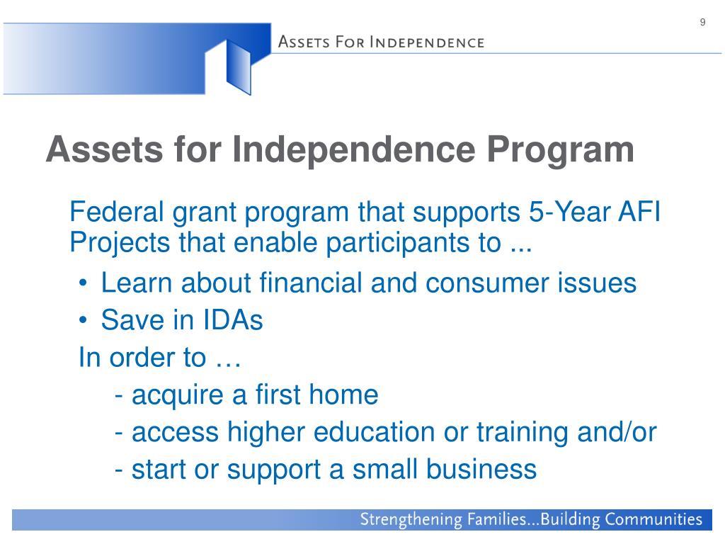 Assets for Independence Program