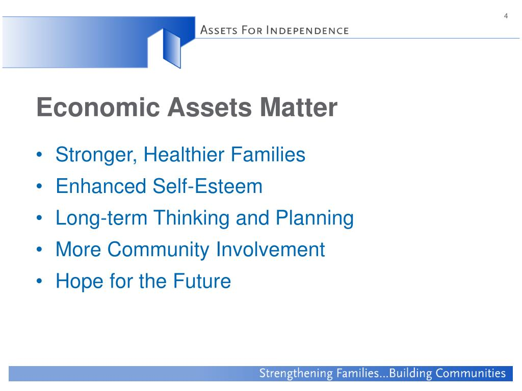 Economic Assets Matter