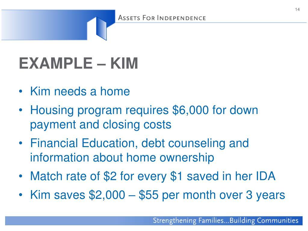 EXAMPLE – KIM