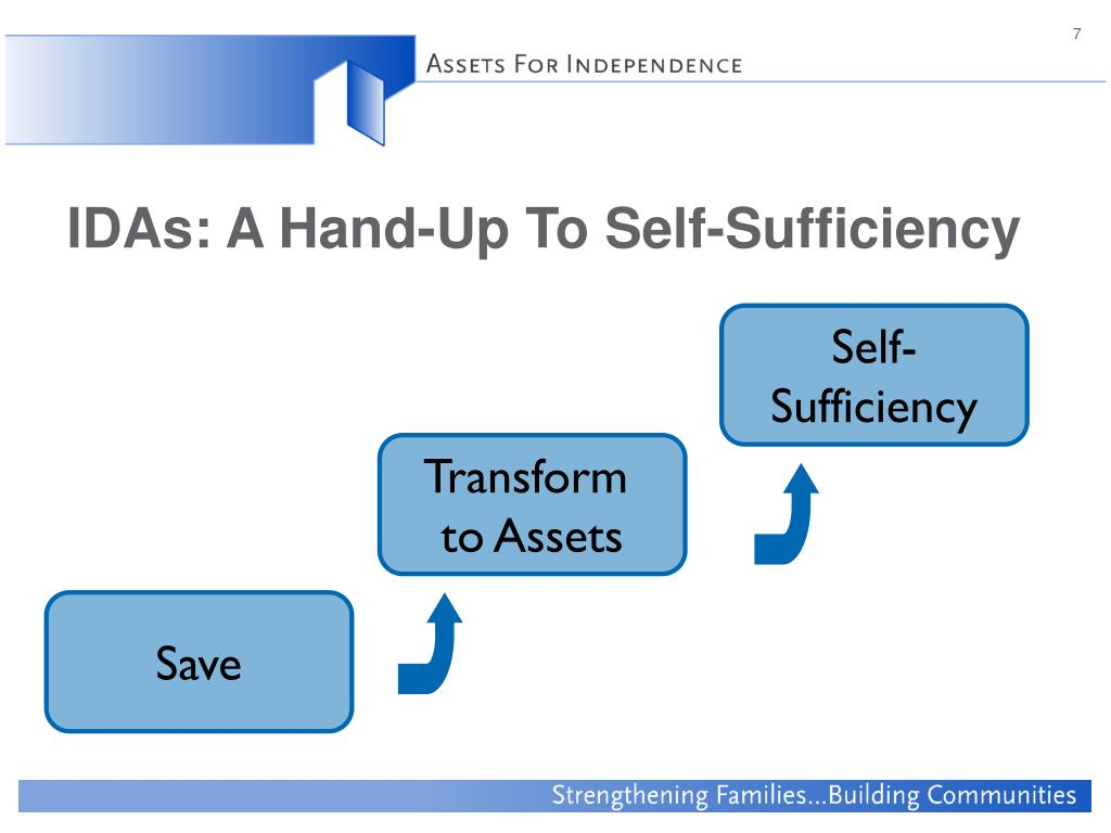 IDAs: A Hand-Up To Self-Sufficiency