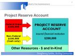 project reserve account