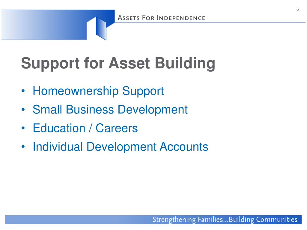 Support for Asset Building
