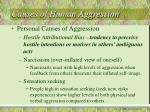 causes of human aggression22