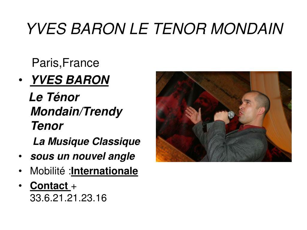 yves baron le tenor mondain l.