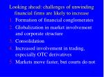 looking ahead challenges of unwinding financial firms are likely to increase