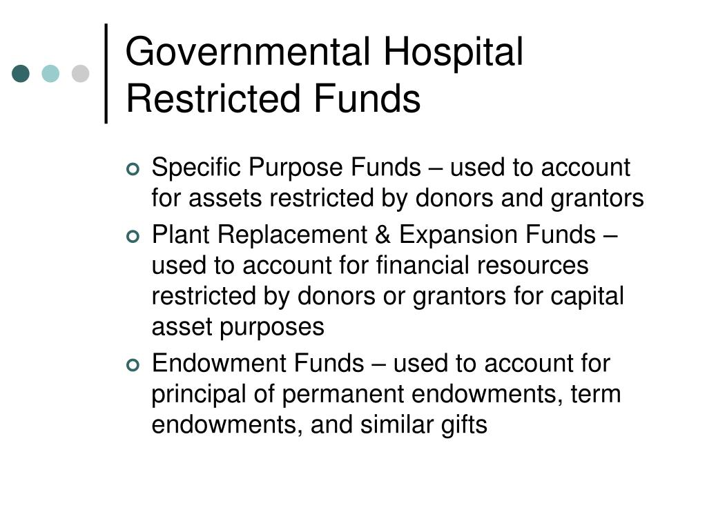 Governmental Hospital Restricted Funds