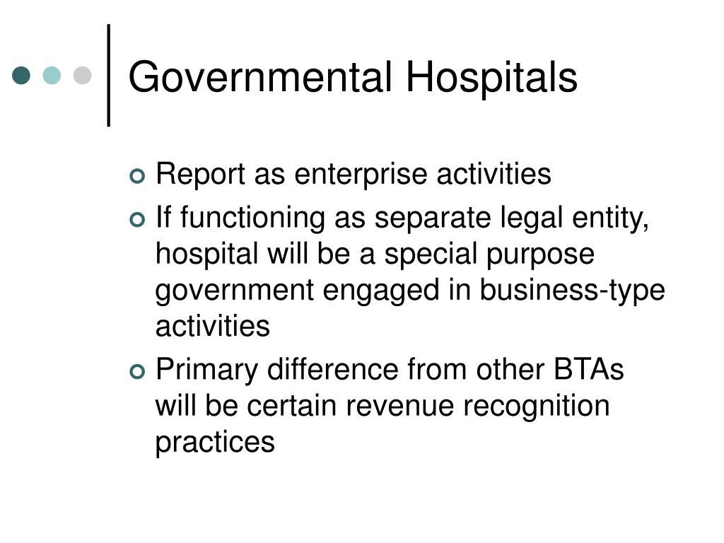 Governmental Hospitals