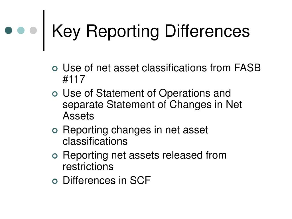 Key Reporting Differences
