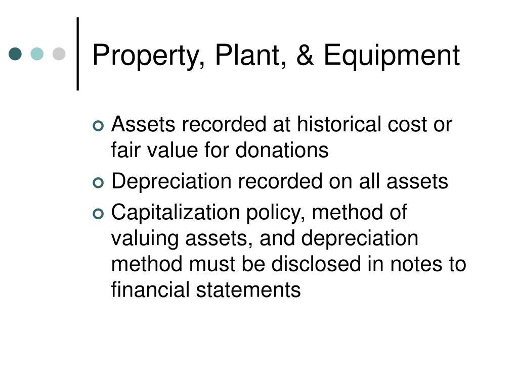 Property, Plant, & Equipment