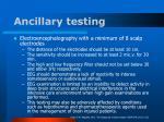 ancillary testing38