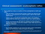 clinical assessment oculocephalic reflex