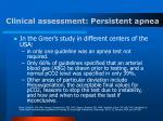 clinical assessment persistent apnea26