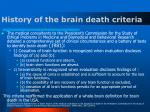 history of the brain death criteria10
