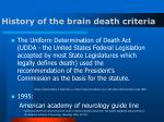 history of the brain death criteria11