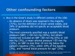 other confounding factors