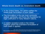 whole brain death vs brainstem death
