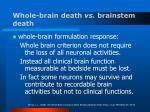 whole brain death vs brainstem death17