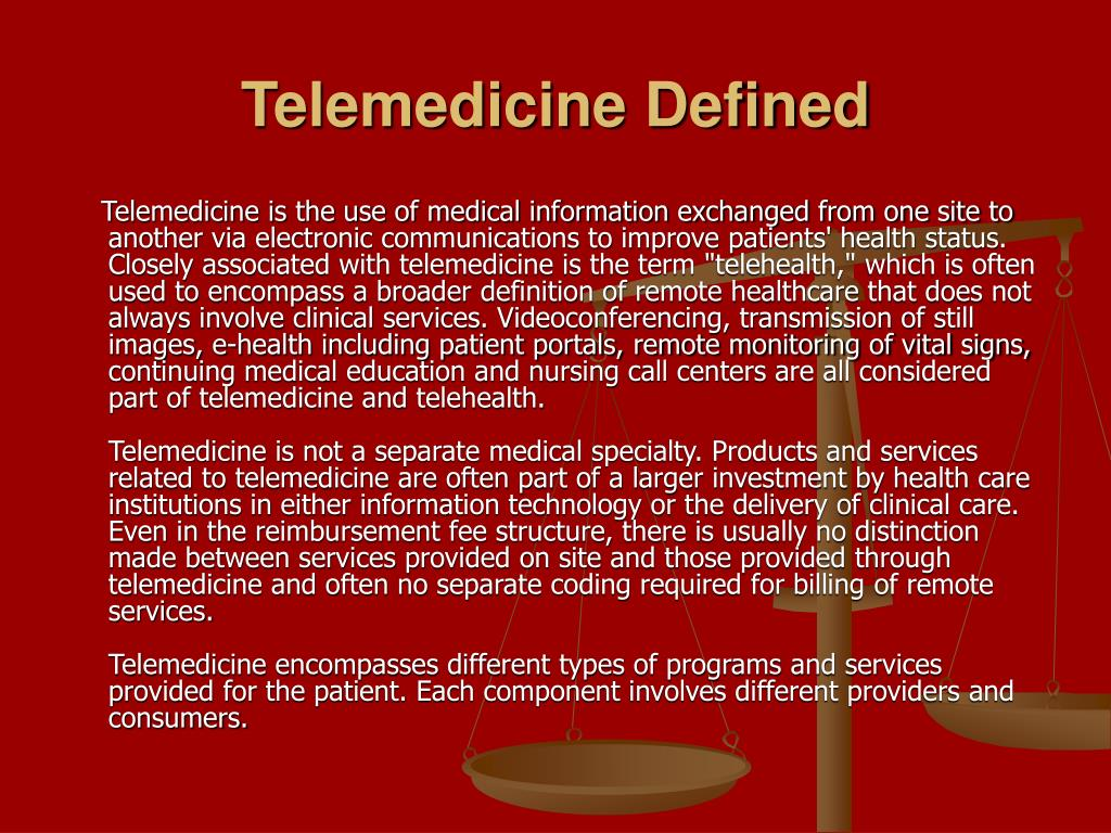 telemedicine essay Privacy, security and confidentiality in telemedicine a overview new technologies have vastly improved the ability to electronically record, store, transfer and share medical data.