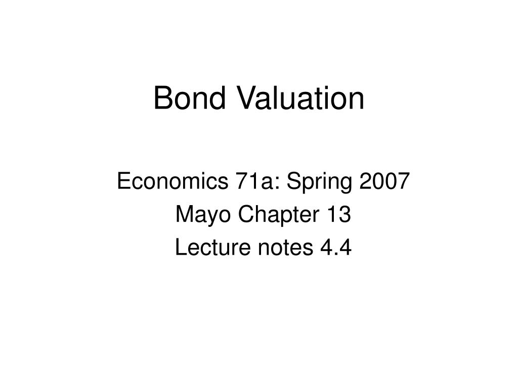 bond valuation l.