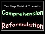 two stage model of translation