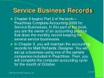 service business records