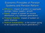 economic principles of pension systems and pension reform