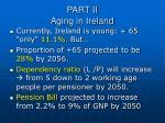part ii aging in ireland