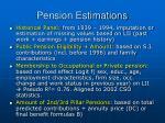pension estimations