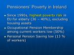 pensioners poverty in ireland