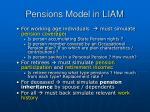 pensions model in liam