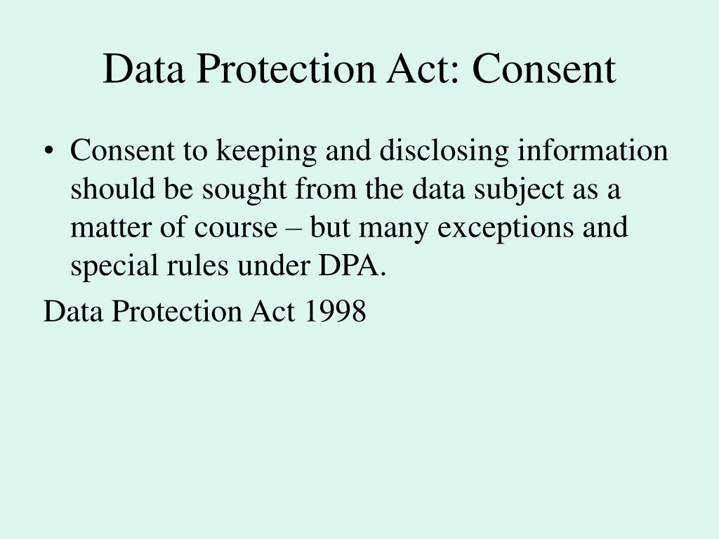confidentiality and data protection act