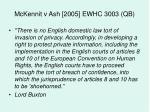 mckennit v ash 2005 ewhc 3003 qb