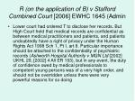 r on the application of b v stafford combined court 2006 ewhc 1645 admin