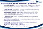 employability skills cbi uuk defined as