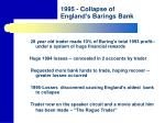 1995 collapse of england s barings bank