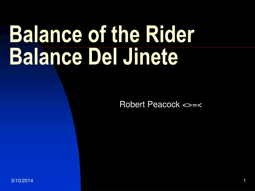balance of the rider balance del jinete l.