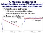 4 musical instrument identification using f0 dependent multivariate normal distribution9