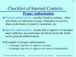 checklist of internal controls3
