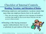 checklist of internal controls7