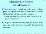 merchandise returns and allowances6