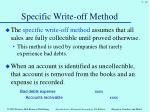 specific write off method