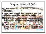 drayton manor 2005