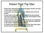 robert peel the man