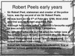 robert peels early years