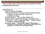how to intervene demonstration guided practice independent practice8