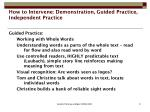 how to intervene demonstration guided practice independent practice9
